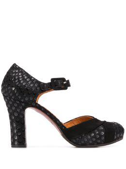 Chie Mihara фактурные туфли на высоком каблуке DARA
