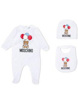 Moschino Kids комбинезон с принтом Teddy Bear Balloon MUY02WLBA00