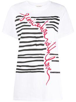 Semicouture футболка в полоску с логотипом Y0SJ42
