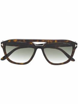 Tom Ford Eyewear tortoiseshell aviator sunglasses FT0776
