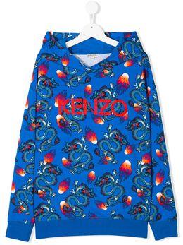 Kenzo Kids худи с принтом KQ15568