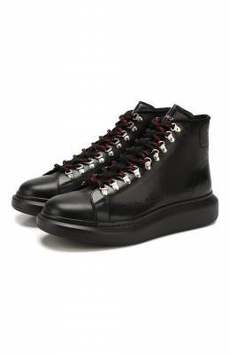 Кожаные ботинки Alexander McQueen 604247/WHRWA