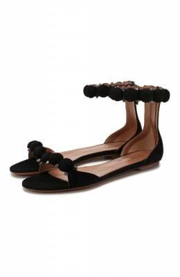 Замшевые сандалии Alaia AS3Y024CC16