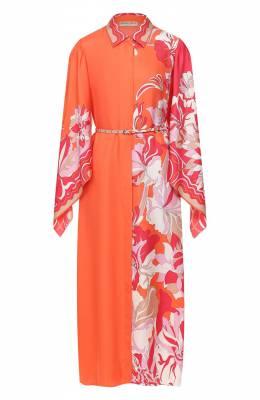 Шелковое платье Emilio Pucci 0ERH85/0E880