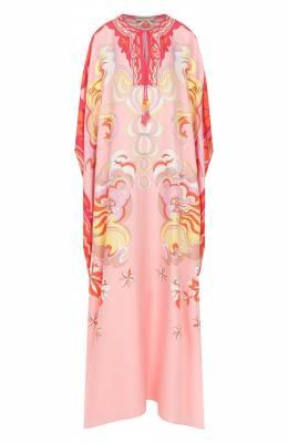Шелковое платье-туника Emilio Pucci 0ERL54/0E867