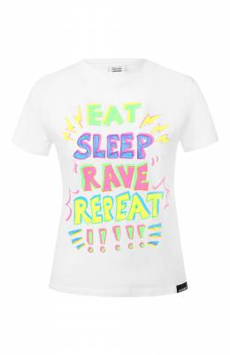 Хлопковая футболка Vetements SS20TR360 1616A/W/WHITE