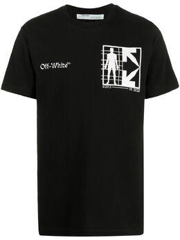 Off-White футболка с логотипом OMAA027S201850101001