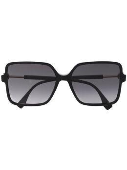 Fendi Eyewear солнцезащитные очки в квадратной оправе FF0411S