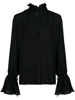 Nili Lotan блузка Demi с оборками 10550W30