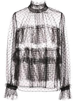 Adam Lippes блузка из тюля в горох F19112PO