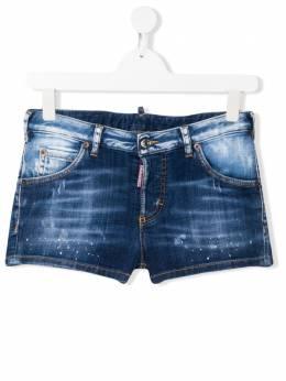 Dsquared2 Kids выбеленные джинсовые шорты DQ02QRD00YC