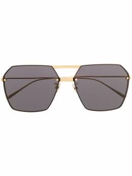 Bottega Veneta Eyewear солнцезащитные очки в геометричной оправе BV1045S
