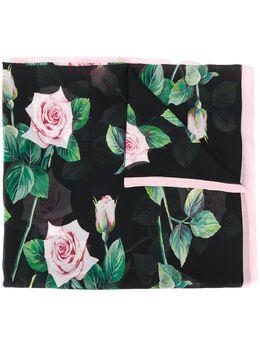 Dolce&Gabbana шарф с принтом Tropical Rose FS182AGDS18