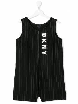 DKNY Kids комбинезон в тонкую полоску D3498309B