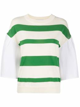 Erika Cavallini футболка с поплиновыми рукавами POSC01