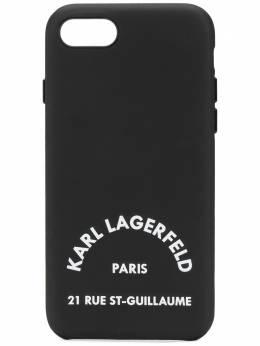 Karl Lagerfeld чехол Rue St Guillaume для iPhone 8 с логотипом KL20RGL8999