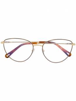 Chloe Eyewear очки в оправе 'кошачий глаз' черепаховой расцветки CE2159