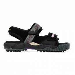 Off-White Black Oddsy Minimal Trekking Sandals OMIA169S207800201000