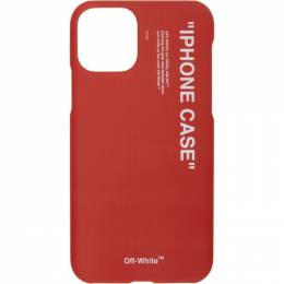 Off-White SSENSE Exclusive Red Quote iPhone 11 Pro Case OMPA018S20PLA001M0M0