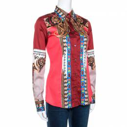 Etro Multicolor Paisley Printed Cotton Tribal Accent Shirt S 270720