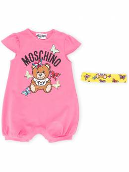 Moschino Kids комбинезон с графичным принтом MDY00KLBA00
