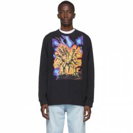 Acne Studios Black Monster in My Pocket Edition Great Beast Long Sleeve T-Shirt BL0181