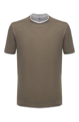 Хлопковая футболка Brunello Cucinelli M0T617427