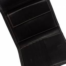 Carolina Herrera Tri Color Signature Canvas, Suede and Leather Trifold Wallet 260897