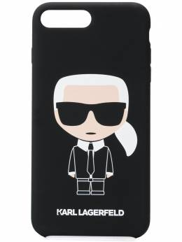 Karl Lagerfeld чехол Ikonik для iPhone 8 Plus с логотипом KL20KI8P999