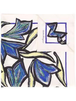 Salvatore Ferragamo платок с цветочным принтом 731264