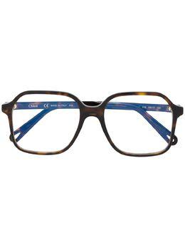 Chloe Eyewear очки в массивной квадратной оправе CE2744
