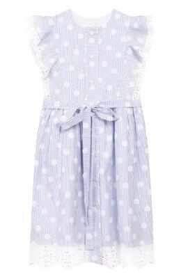 Хлопковое платье с поясом Oscar De La Renta 20SGN602SSX
