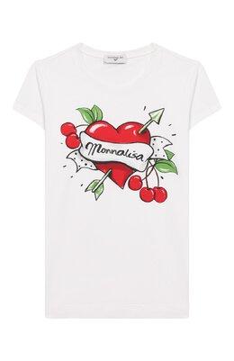 Хлопковая футболка Monnalisa 115618SP