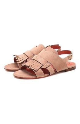 Замшевые сандалии Santoni WHBF58524HI1CLCPP21