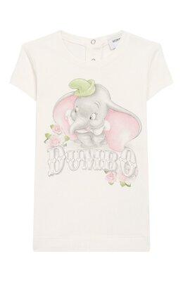 Хлопковая футболка Monnalisa 395609SD