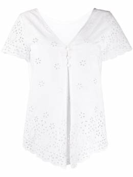 Semicouture блузка с короткими рукавами и вышивкой Y0SW01