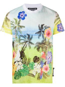 Versace Jeans Couture футболка с принтом Tropical Island B3GVA7SBS0679