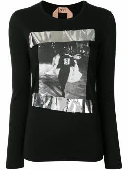 No. 21 футболка с длинными рукавами и принтом 20EN2M0F0714157