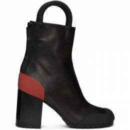 Random Identities Black and Red Worker Boots B01