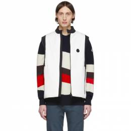 Moncler White and Black Down Chabod Vest 1A50000C0464034