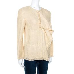 Ralph Lauren Beige Linen Silk Chantel Jacket M 270958