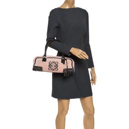 Loewe Pink/Brown Leather Amazona Bag 270380