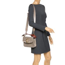 Chloe Motty Grey Leather C Double Bag