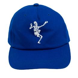 Alexander McQueen Blue Cotton Dancing Skeleton Baseball Cap M 270723