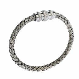 Montblanc Contemporary Collection Sterling Silver Woven Bracelet 270240