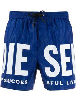 Diesel плавки-шорты с логотипом 00SV9U0KAXH