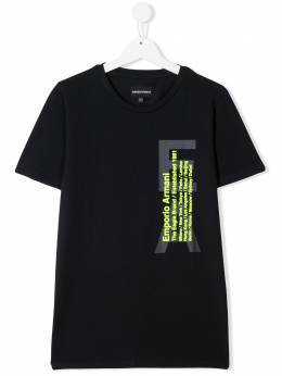 Emporio Armani Kids футболка с логотипом 3H4T921J0AZ
