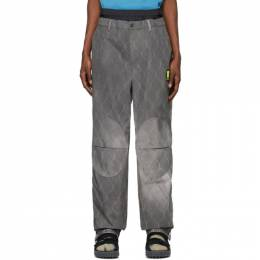 Off-White Grey Fence Extended Chino Trousers OMCA126S20H900201000