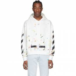 Off-White SSENSE Exclusive White Galaxy Brush Hoodie OMBB009S206200570110