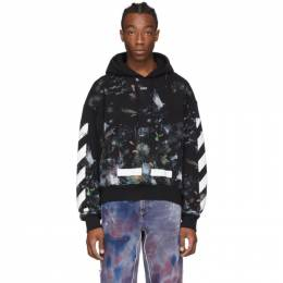 Off-White SSENSE Exclusive Black Galaxy Brush Hoodie OMBB009S20FLE001M9M0